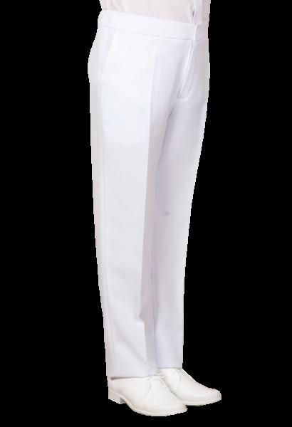 spodnie białe stretch