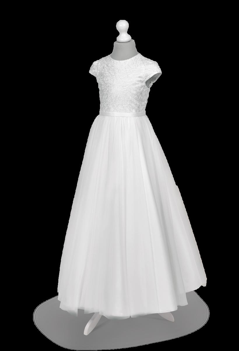 Koronkowa i zwiewna sukienka komunijna Tosia BI-139.