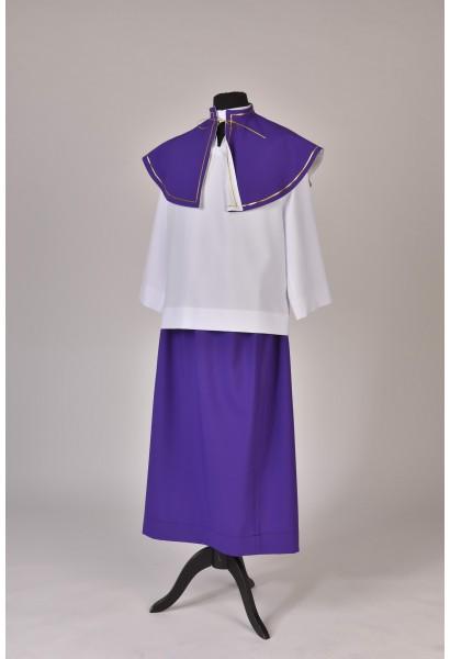 Spódnica ministrancka - fiolet