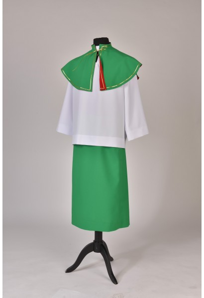 Komplet ministrancki -zielony