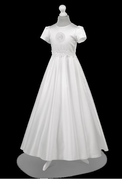 Piękna z pełnego koła sukienka na uroczystość komunii Alicja BI-053