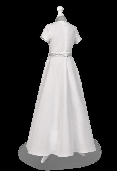 sukienka komunijna srebrny IHS
