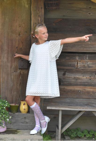 sukienka dziewczęca wizytowa z koronki