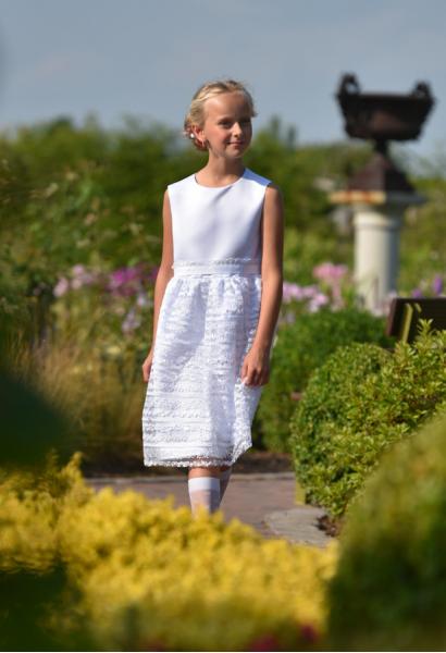 sukienka dziewczęca biała