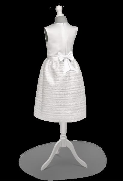 sukienka wizytowa z koronkową spódnicą