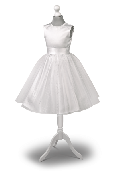 Przepiękna krótka sukienka komunijna w białym kolorze Lilianka BI