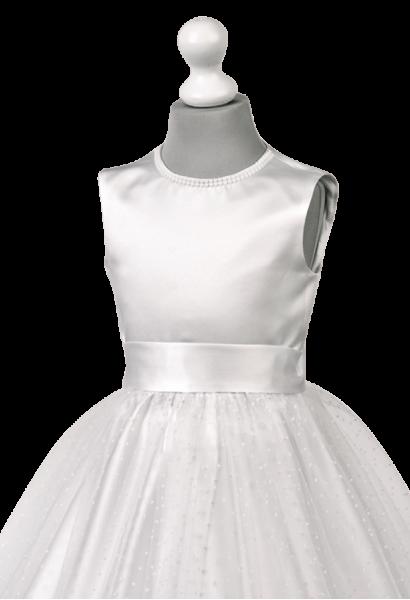 sukienka okolicznościowa tiul kropeczki