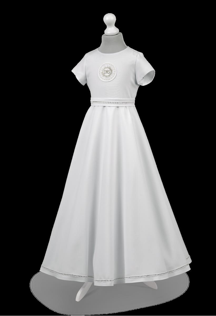 Piękna sukienka komunijna z krótkim rękawem Marta SR-016