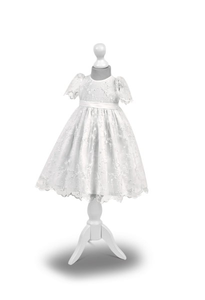 sukieneczka bawełniana z koronką