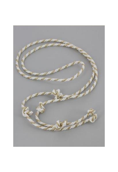 Sznur biało-złoty