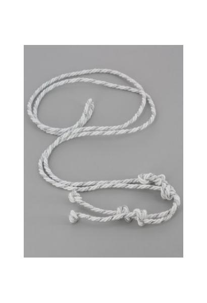 Sznur biało-srebrny