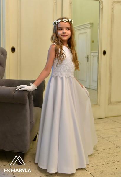 sukienka komunijna z koronką