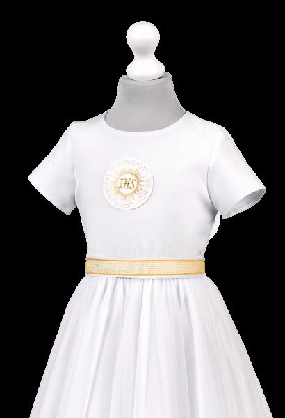sukienka komunijna złota