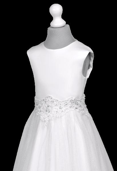 aplikacja na sukience komunijnej z szyfonem