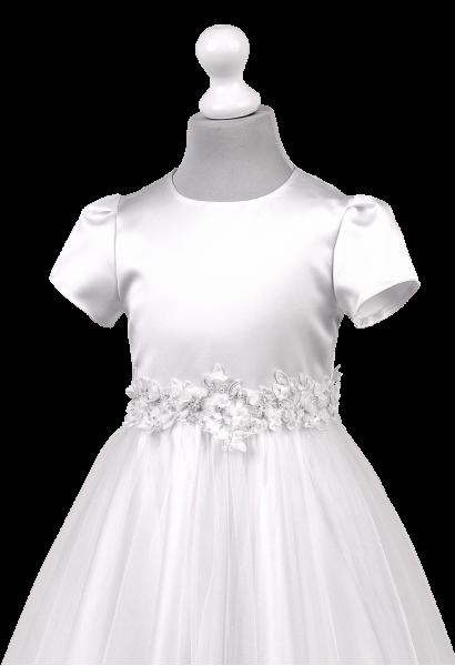 taśma 3D w pasie sukienki komunijnej