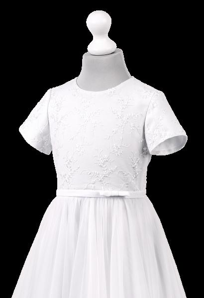 szyfonowa sukienka komunijna z koronką