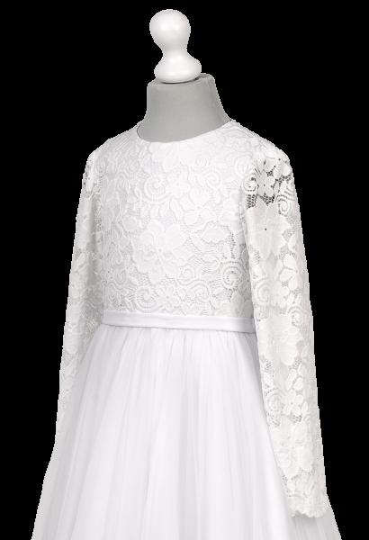 koronka elastyczna w sukience komunijnej