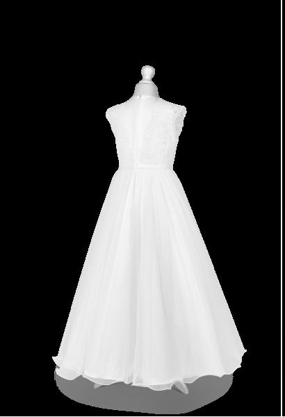 sukienka komunijna z mereżką