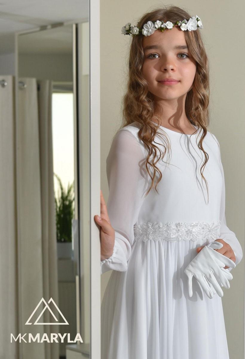 sukienka komunijna muślinowa