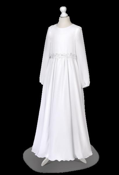 delikatna muślinowa sukienka komunijna