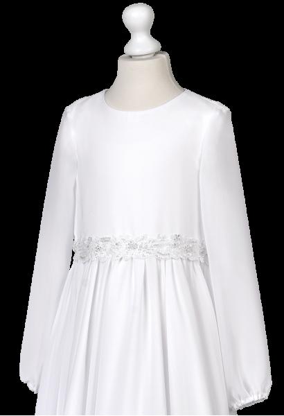 sukienka do komunii z muślinu