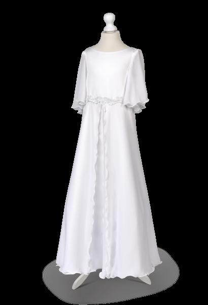 komunijna muślinowa sukienka