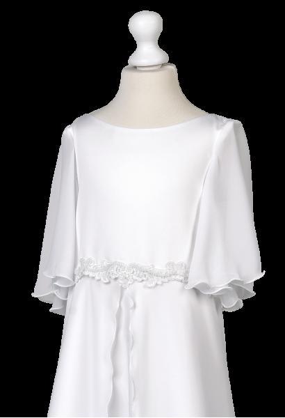 muślinowa długa sukienka komunijna