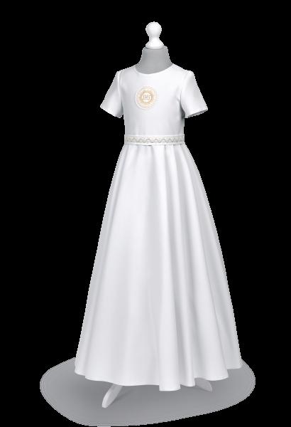 Sukienka komunijna z kontrafałdami