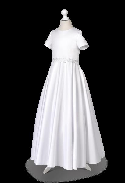 sukienka do komunii taśma ozdobna