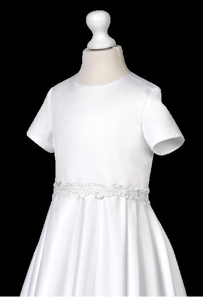 taśma ozdobna w sukience komunijnej