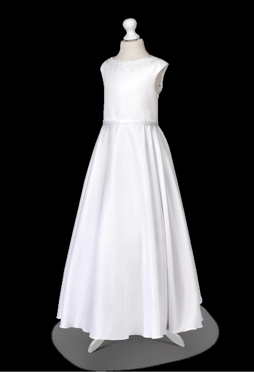 sukienka do komunii z kontrafałdami
