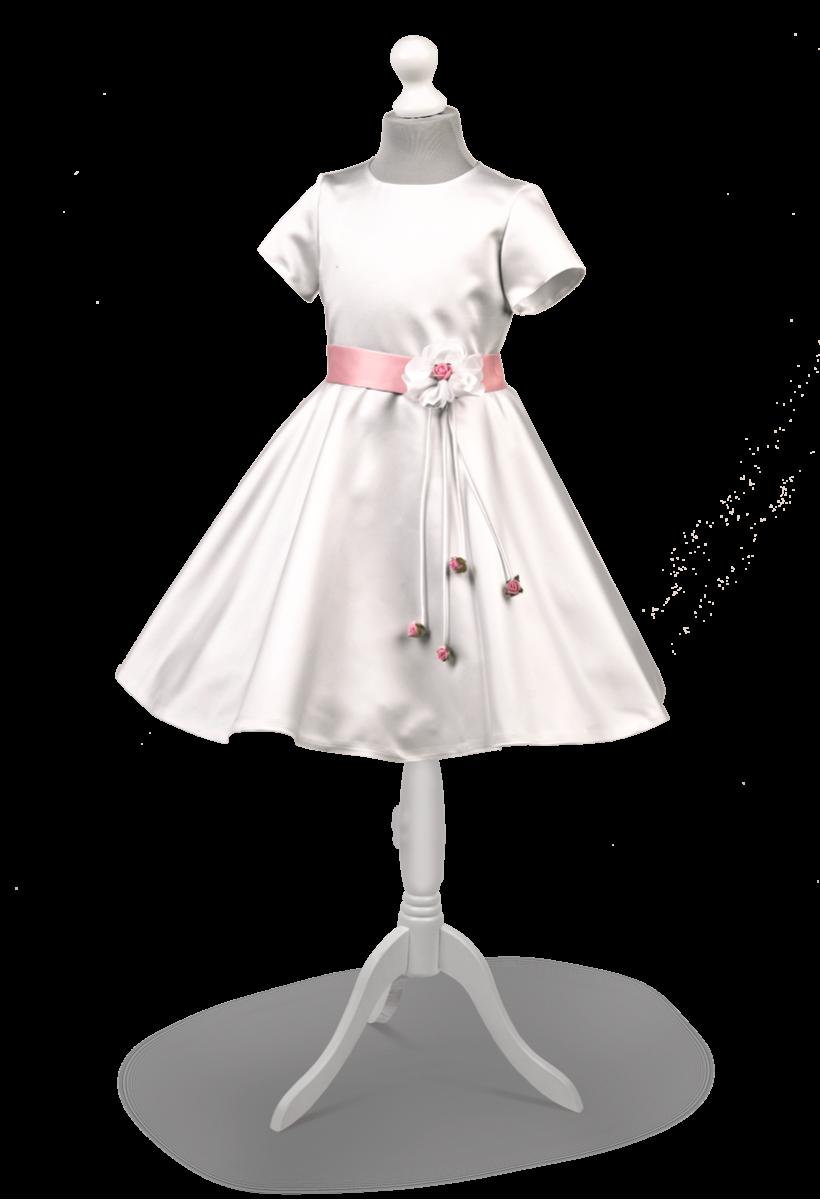 Elegancka satynowa sukienka Maja RZ-086