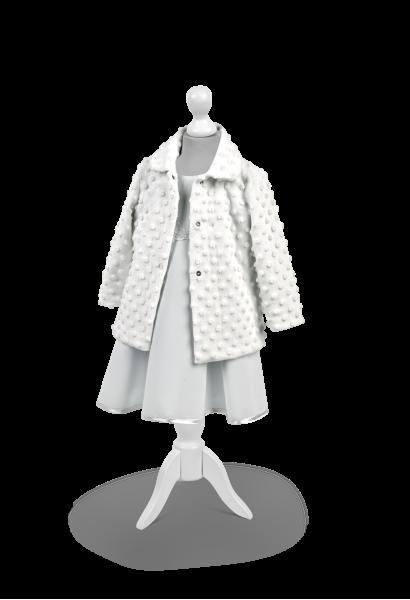 płaszczyk minky biały