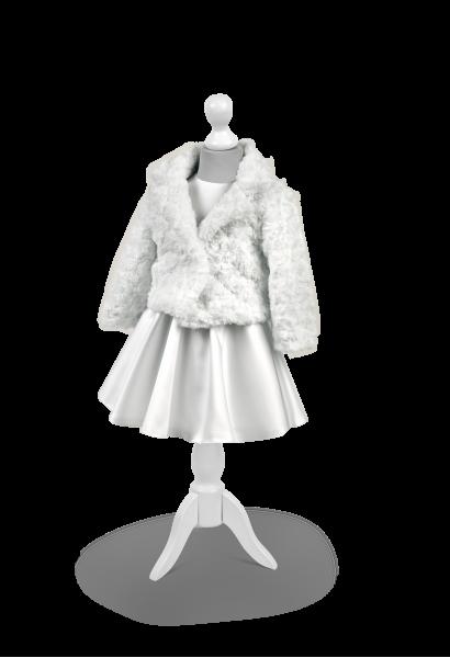 kurteczka białą z materiału różyczki
