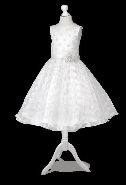 piękna sukienka z tiulem w kropeczki