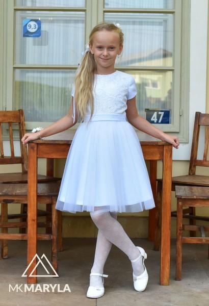 sukienka pokomunijna biała