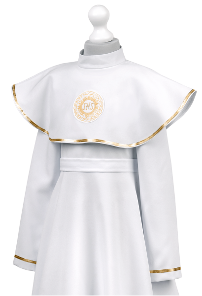 sukienko-alba z nakładanym kołnierzem