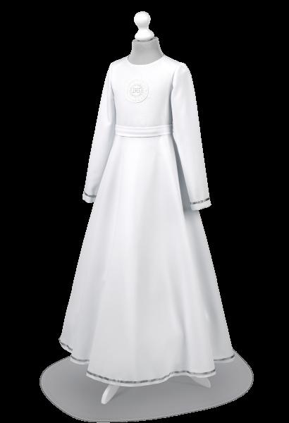 sukienka komunijna z długim rękawem