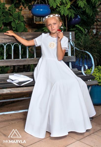 sukienka komunijna z koronką spódnica z koła