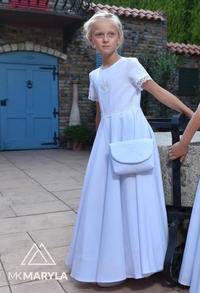 sukienka komunijna spódnica z koła
