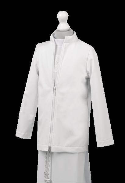 Biała kurtka komunijna typu softshell