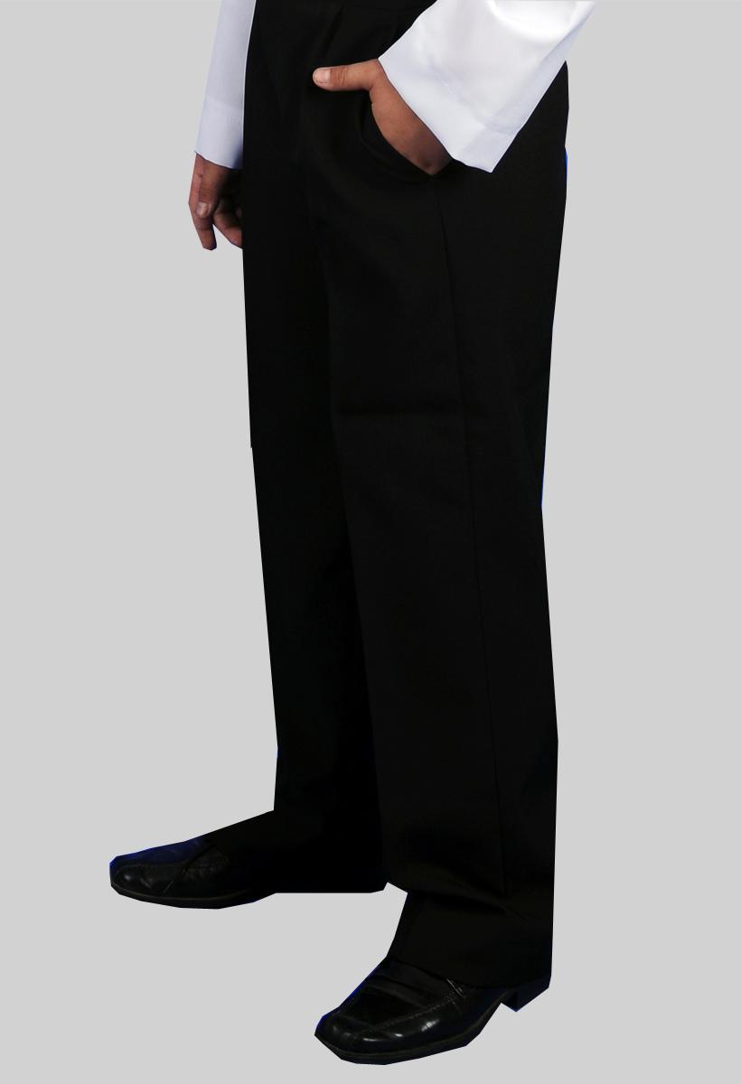Czarne stretchowe spodnie komunijne, okolicznościowe.