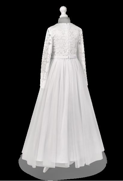 Sukienka komunijna z długim koronkowym rękawem TosiaBI-059
