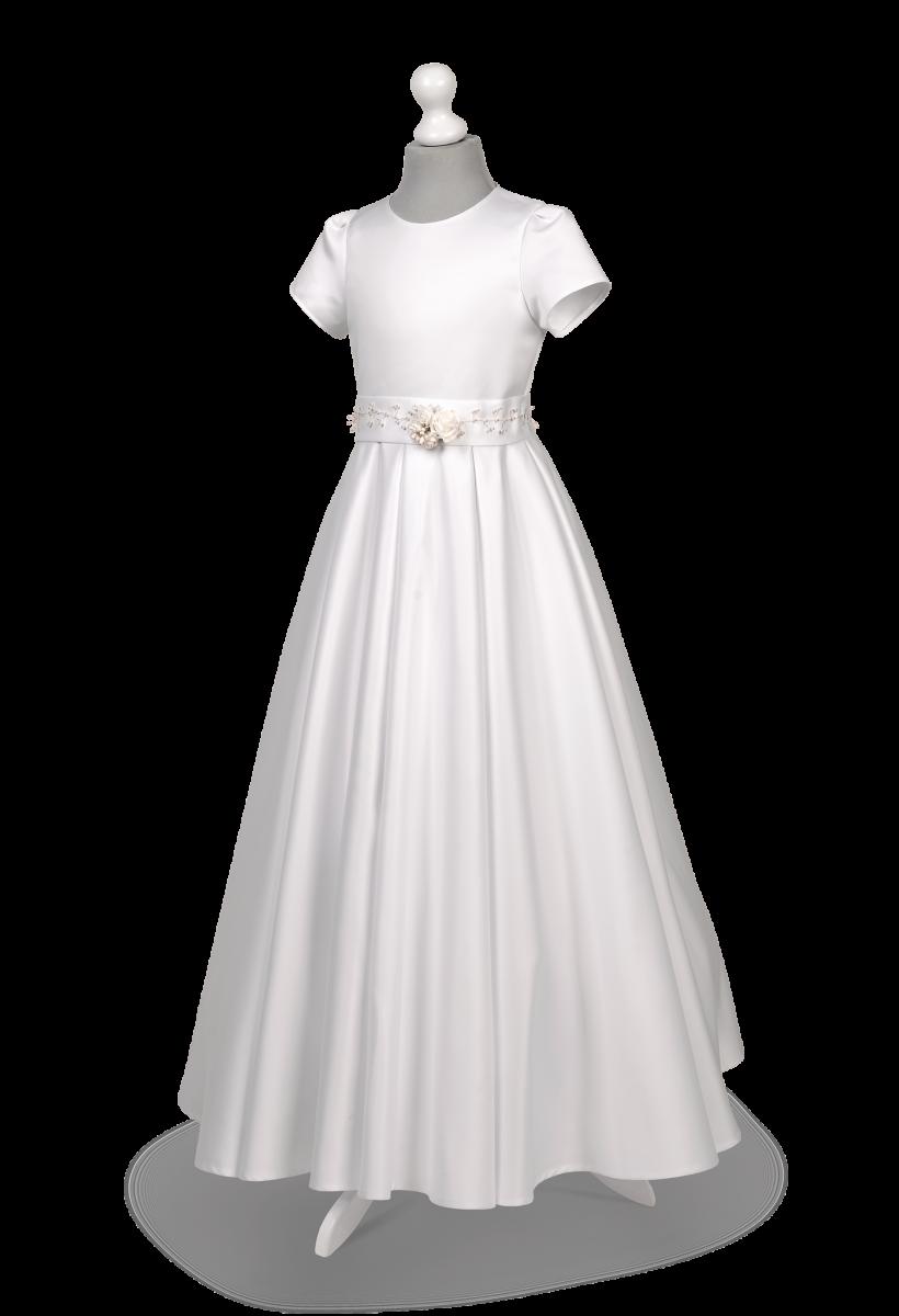 Sukienka komunijna z kontrafałdami Elza Bi-092.
