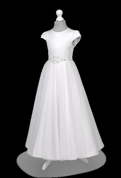 Sukienka komunijna z szyfonem i efektownym zdobieniem Tosia BI-091
