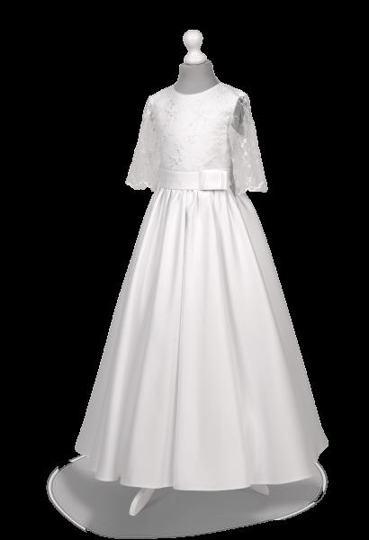 Sukienka komunijna z koronkowym rękawem Anna BI-067