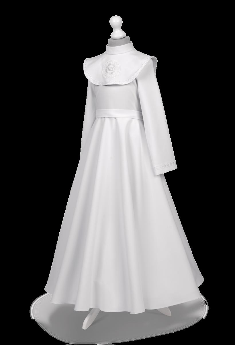 Sukienka komunijna z kołnierzem - Malwina SR-100
