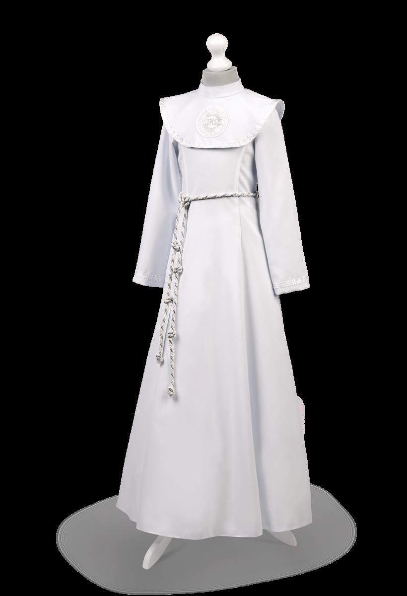 Sukienka komunijna z kołnierzem Celinka BI-056.