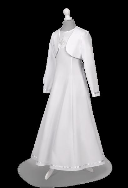 Sukienka komunijna wiązana z tyłu Celinka BI-101.