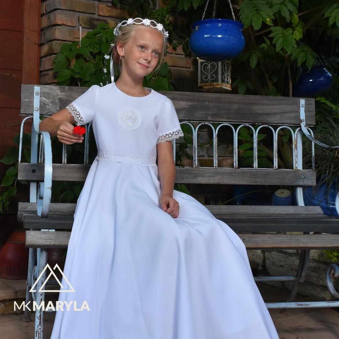 Sukienka komunijna z pełnego koła - Alicja BI-096